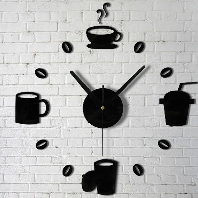 Kitchen Wall Art Decor Sink Strainer Coffee Cups Mirror Clock Modern Design Home Decoration Sticker For Living Room Hg Ws 1697