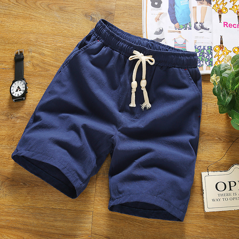 Online Buy Wholesale white linen shorts men from China white linen ...