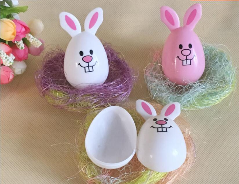 IWish L 60mm Easter Eggs Open Eggshell Rabbit Egg Toys Load Candy Egg Birthday Gift Festival Decoration Party For Children 1PCS