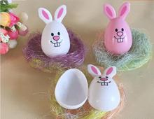 iWish L 60mm Easter Eggs Open Eggshell Rabbit Egg Toys Load Candy Egg Birthday Gift Festival Decoration Party For Children 1PCS