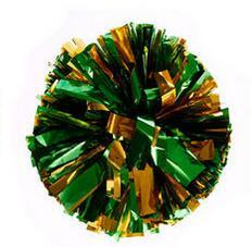 Golden green Small cheer pom poms 5c64fbbde3eae