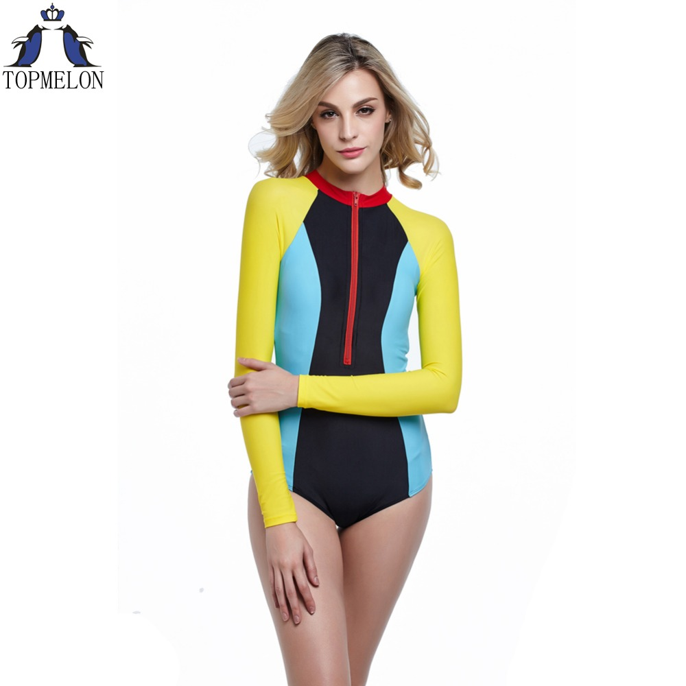 7c3bcd60b7 long sleeve swimwear one piece swimsuit sexy one piece swim suits plavky  swimwear monokini swimsuit bathing suit female -in Body Suits from Sports  ...