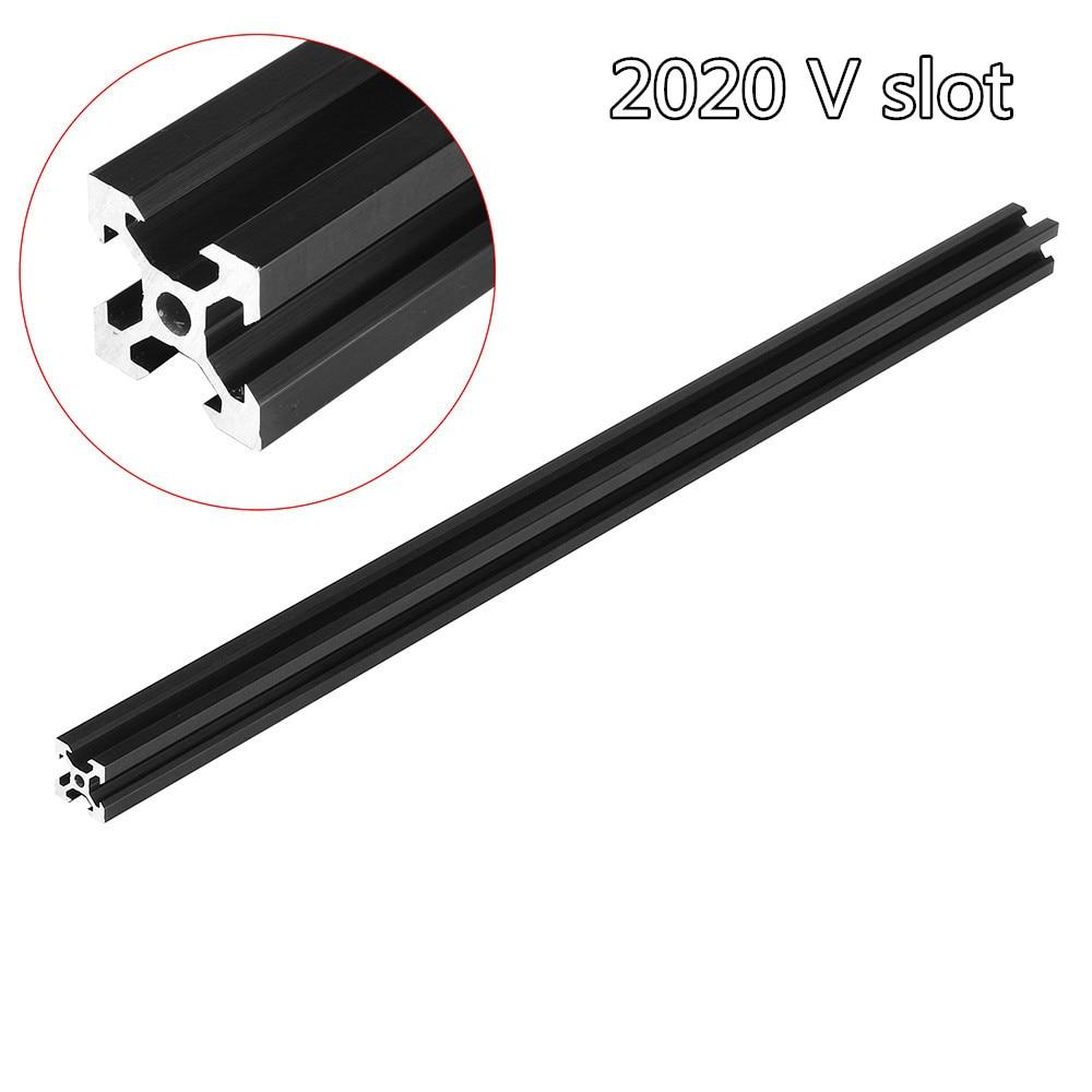 100-1000mm Black 2020 V-Slot Aluminum Profile Extrusion Frame for CNC Laser Engraving Machine 3D Printer Camera Slider Furniture leg extension split machine