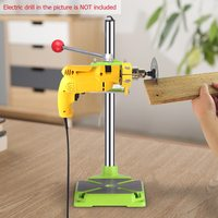 Electric Drill Press Stand Table Rotary Tool Workstation Drill Workbench Repair Clamp Work Station 90 Degree Rotating Fixed Fram|Power Tool Accessories| |  -