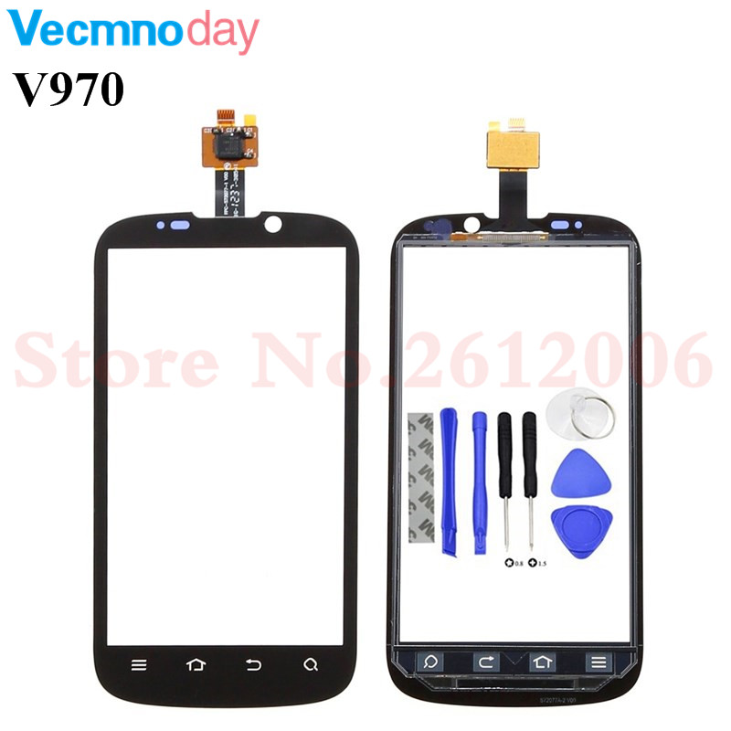 Touch Screen Digitizer For <font><b>ZTE</b></font> X3G V970 <font><b>V970M</b></font> Digitizer Touch Screen Sensor Front Glass + Tools image