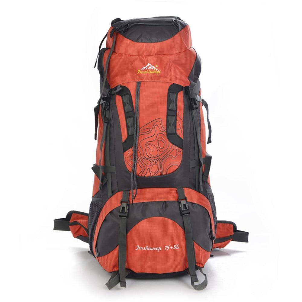 80L Camping Travel Backpack Nylon Waterproof Hiking Backpacks Outdoor Climbing Bag Man s Backpack Women Sports