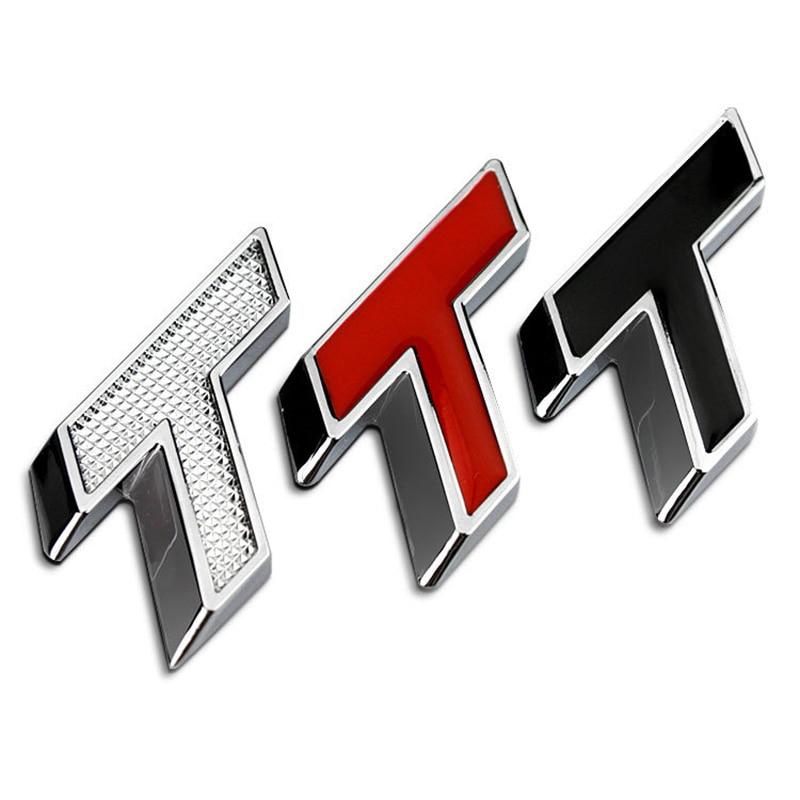 T Turbo Supercharging Chrome Metal Car Styling Emblem Badge Refitting Exterior Cool Decal Logo 3D Sticker for Chevrolet Cruze emblem
