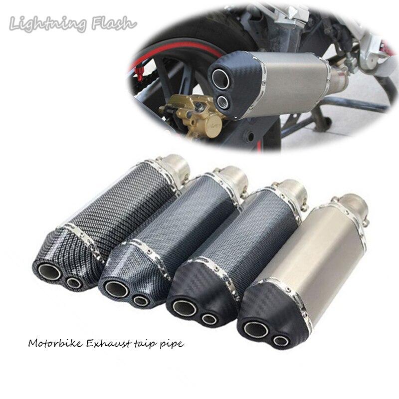 Système de moto pot d'échappement tuyau d'échappement embout d'évacuation tuyau d'échappement 51mm tuyau d'échappement universel Scooter vélo de saleté modifié