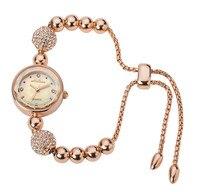 MELISSA NEW Fashion Beading Watch Romantic Elegant Ladies Dress Bracelet Watches Crystals Jewelry Wrist watch Montre Femme F8239