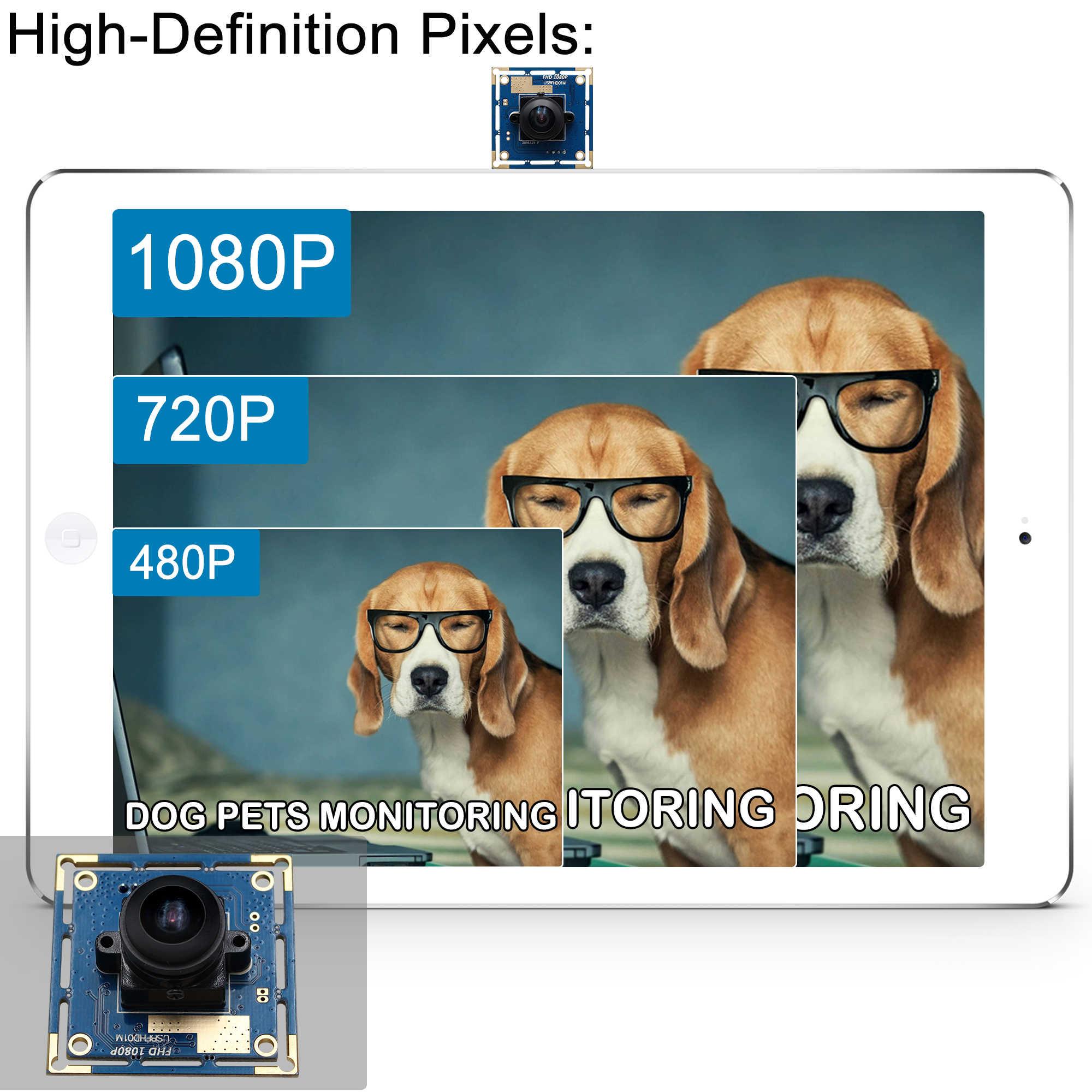 ELP 2.0 megapixel Ominivison OV2710 180 graden fisheye USB camera hoge snelheid MJPEG 30fps/60fps/120fps CMOS USB camera board