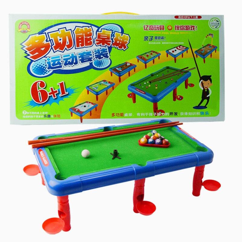 Livraison gratuite Nouveaux Enfants Grand Ménage 7 différents Sport Jeux de  Table En Plastique Fonctionnelle 6