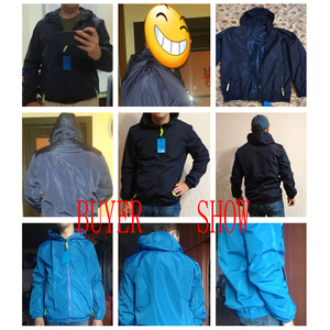 Image 4 - Size 6XL 5XL 7XL 2018 Spring Autumn Young Men Windbreaker Hooded Jacket Slim Thin Clothing Top Quality Waterproof Plus Size K316