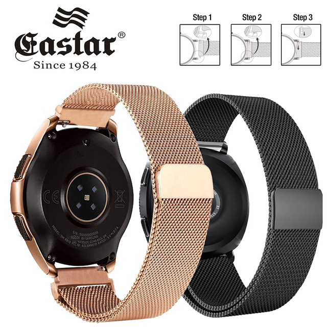 Eastar נירוסטה שעון מילאנו להקת לולאה שעון רצועת סיכות שחרור עבור שעונים סמסונג הילוך S3 S2 22mm /20mm