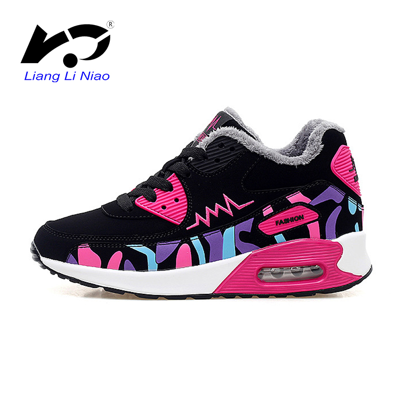 2016 Winter Running Shoes For Women High Quality Lightweight Short Plush  Sneakers Women Outdoor Jogging Sport Shoes air presto be6c58aef