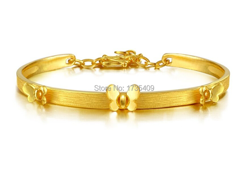 Pure Solid 999 24k Yellow Gold Bracelet Craft Heavy Erfly Bangle 14g In Chain Link Bracelets From Jewelry Accessories On Aliexpress Alibaba
