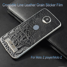 US $1.61 19% OFF|Crocodile Line Leather Grain Sticker Film Wrap Skins Phone Back Membrane Paste Protective Sticker for Moto Z/Moto Z play-in Fitted Cases from Cellphones & Telecommunications on Aliexpress.com | Alibaba Group