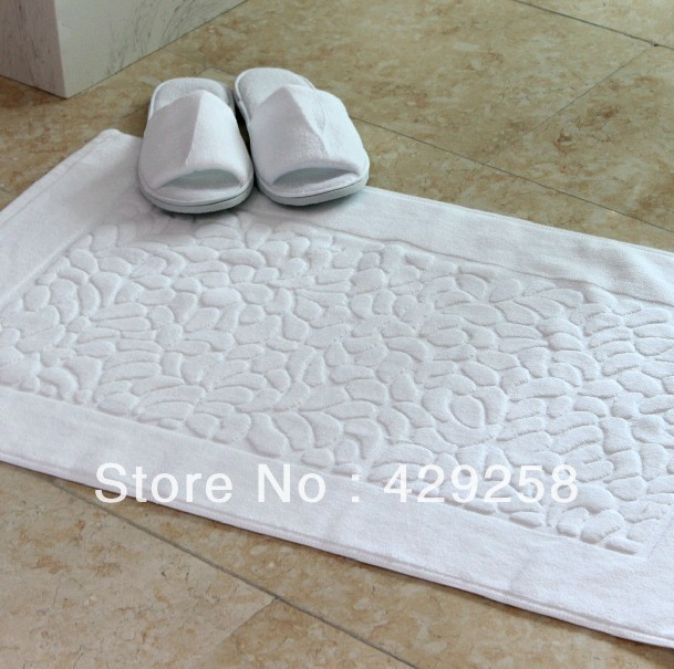 Free shipping hot sale high quality five star hotel bath mat 50*82cm*350g
