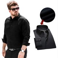 Men Black Formal Office Long Sleeve Men Casual Dress Shirts Plus Size 6XL Non Iron Male Easy Care Formal Tops Business Shirts
