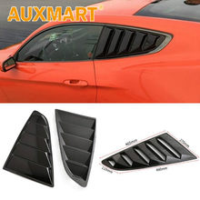 Auxmart Car Styling Car Sticker 1/4 Quarter Side Window Louvers Scoop Cover Vent for Ford Mustang 2015 2016 2017 2018(China)