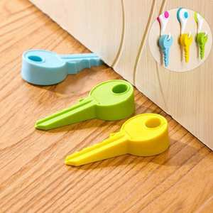 Silicone Rubber Door Stopper Home Decor Cute Key Style Finger Safety Protection Wedge