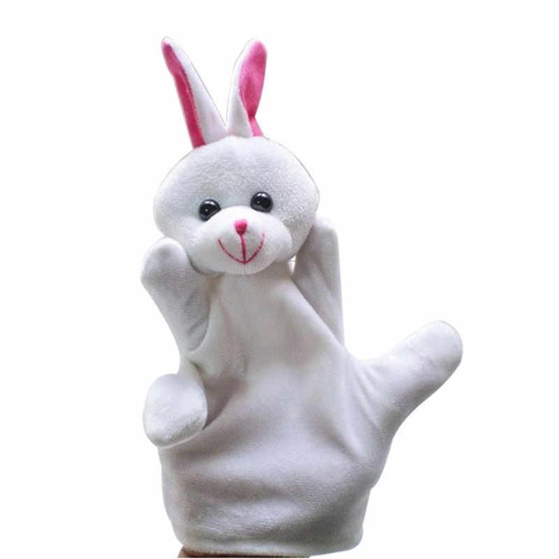 Fingerpuppen Dino Marionnette Bebe ถุงเท้าถุงมือมือ Puppet เด็กทารกสวนสัตว์มือสัตว์เลี้ยงถุงมือมือ Puppet Finger ถุงของเล่น Plush