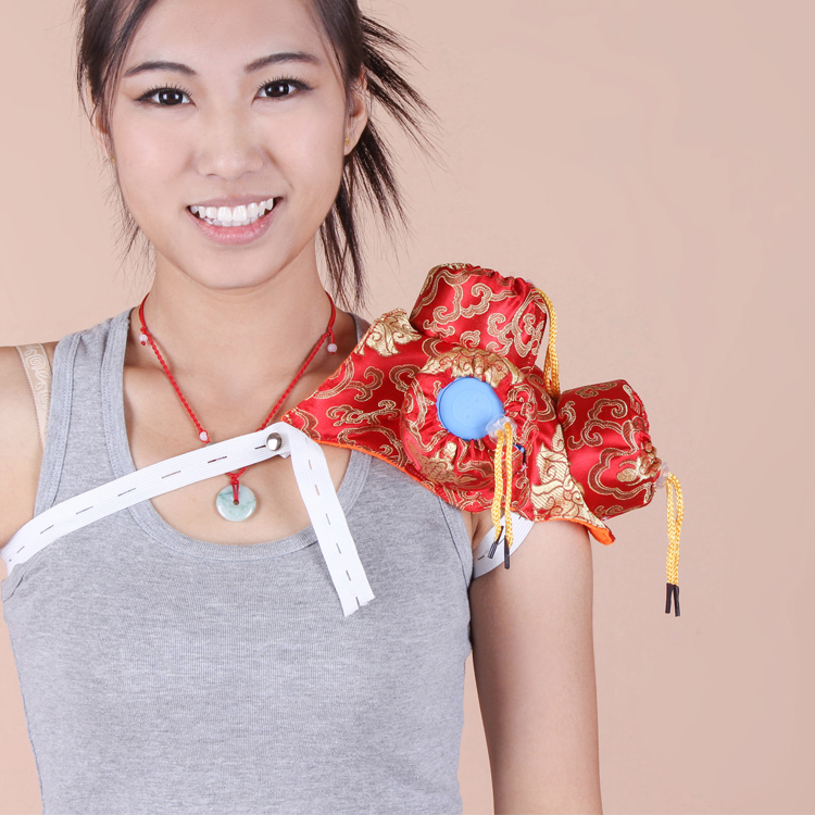 Silks and satins 4 querysystem utensils thickening moxibustion box moxa bags chinese silks