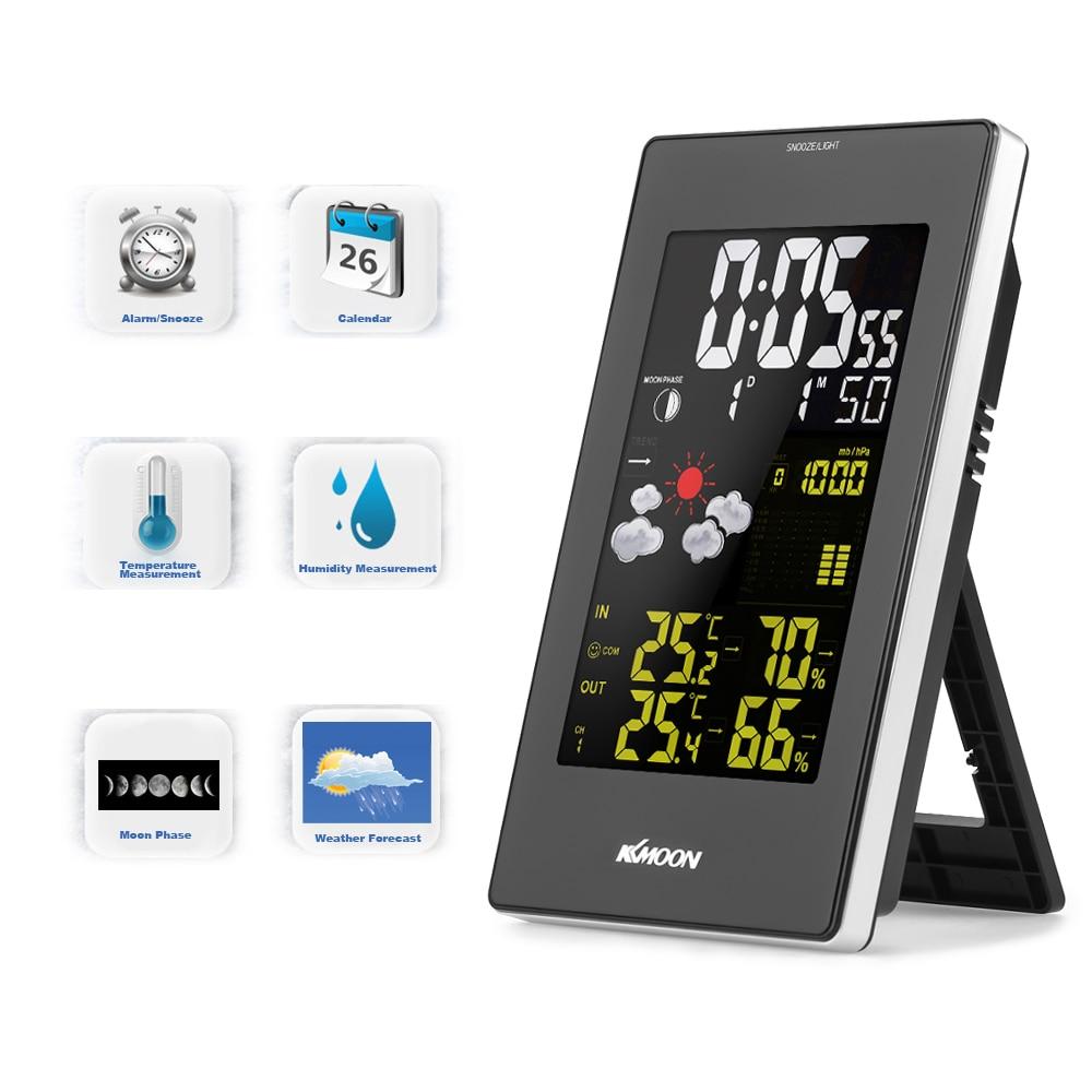 KKmoon Wireless Thermoregulator Digital Thermometer Hygrometer Barometer Weather Station Forecast Clock wall clock Alarm Clock