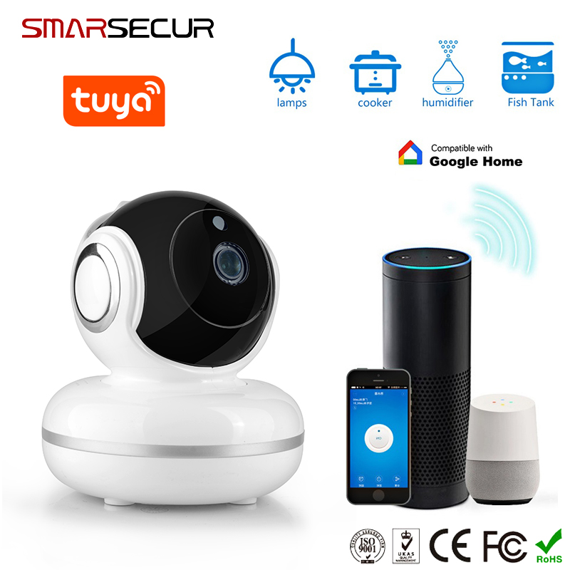 US $6 3 |Tuya Smart life WiFi IP Camera 720P Home Security Mini Camera  Night Vision Infrared Two Way Audio -in Surveillance Cameras from Security  &