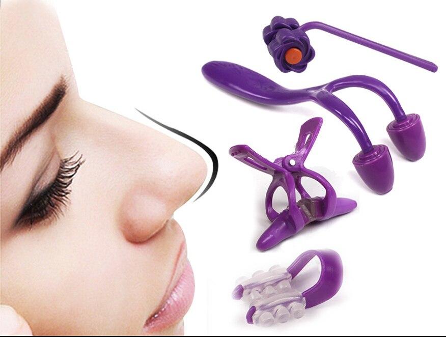 4Pcs/set Nose Up Clip Bridge Lifting Shaping Shaper Clipper Straightening Beauty Nose Clip Facial Clipper Corrector no box