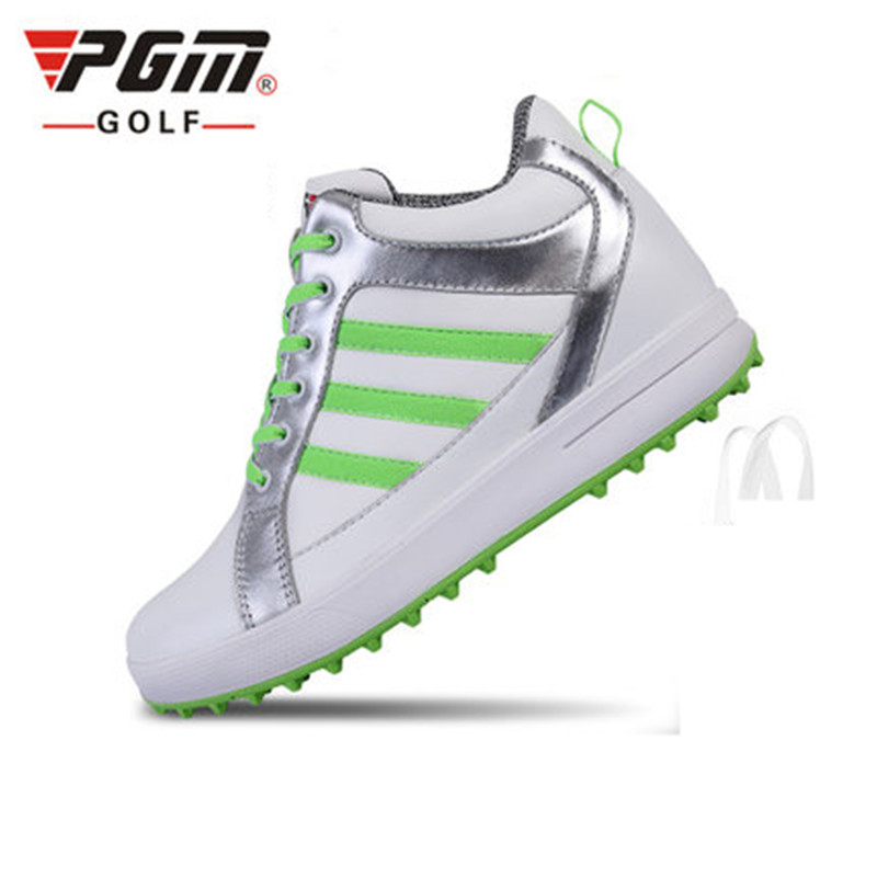 PGM golf shoes ladies high shoes to increase 3cm waterproof sports shoes within the increase shoes super waterproof XZ038
