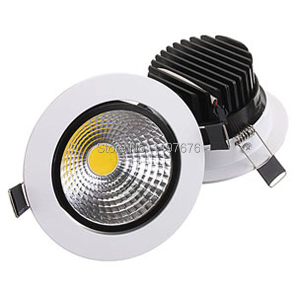 new dimmable Recessed led downlight cob 6W 9W 12W 15W LED Spot light led ceiling lamp AC85-265V free shipping image