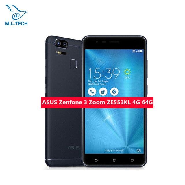 Смартфон ASUS ZenFone 3 Zoom ZE553KL, ОЗУ 4 Гб ПЗУ 64 г, 5,5 дюймов, 4 г LTE, две камеры 12MP, Восьмиядерный, 5000 мАч