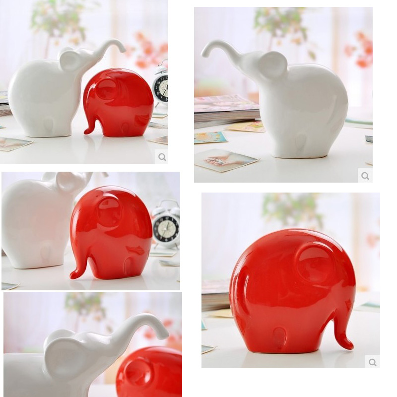 Décor de mariage mignon éléphants en céramique éléphant décor mascotte jardin décor table animal chanceux design cadeau
