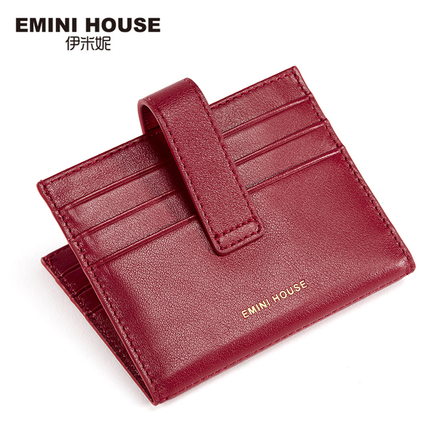 EMINI HOUSE Fashion Genuine Leather Women Credit Card Holder Business Id Card Holder Wallet For Credit Cards Ticket Holders