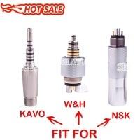 Dental Quick Coupling Coupler For W&H 6 hole Kavo 2 hole NSK Phatelus 6 hole Fiber Optic Handpiece LED