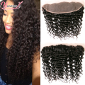 Brazilian Virgin Hair Deep Wave Frontal Closure 13x4 Ear to Ear Full Frontal Lace Closure Brazilian Deep Curly Frontal Closure