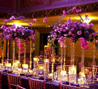80cm Tall Crystal Table Centerpiece Square flower stand Table Decoration