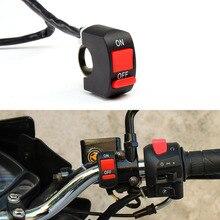 Универсальные переключатели для мотоциклов, руль мотоцикла, Пламенный переключатель, кнопка включения выключения для мотора мотовездехода, велосипеда, DC12V/10A, черный