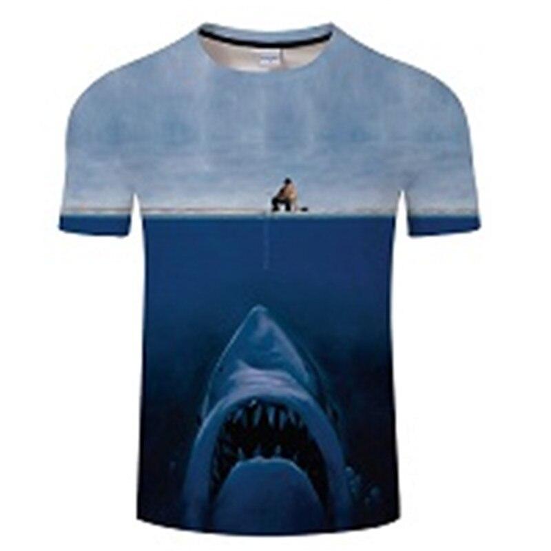 Новая футболка для рыбалки, стильная повседневная футболка с цифровым 3D принтом рыбы, мужская и женская футболка, летняя футболка с коротким рукавом и круглым вырезом, Топы И Футболки S-6XL - Цвет: TXKH434