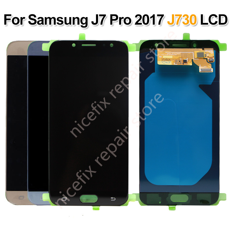 Super AMOLED For Samsung Galaxy J730 J7 Pro 2017 LCD Display Touch Screen Digitizer Assembly Replacement