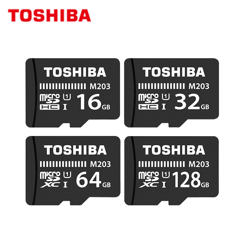 TOSHIBA Memory Card M203 Max 100MB/s Micro SD Card UHS-I 16GB 32GB SDHC 64GB 128GB SDXC U1 Class10 Black TF Card For Phone