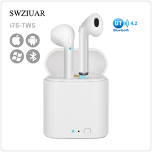 2030dbd78f2 Hot Sell i7s TWS Mini Wireless Bluetooth Earphone Stereo Earbud Headset  With Charging Box Mic For