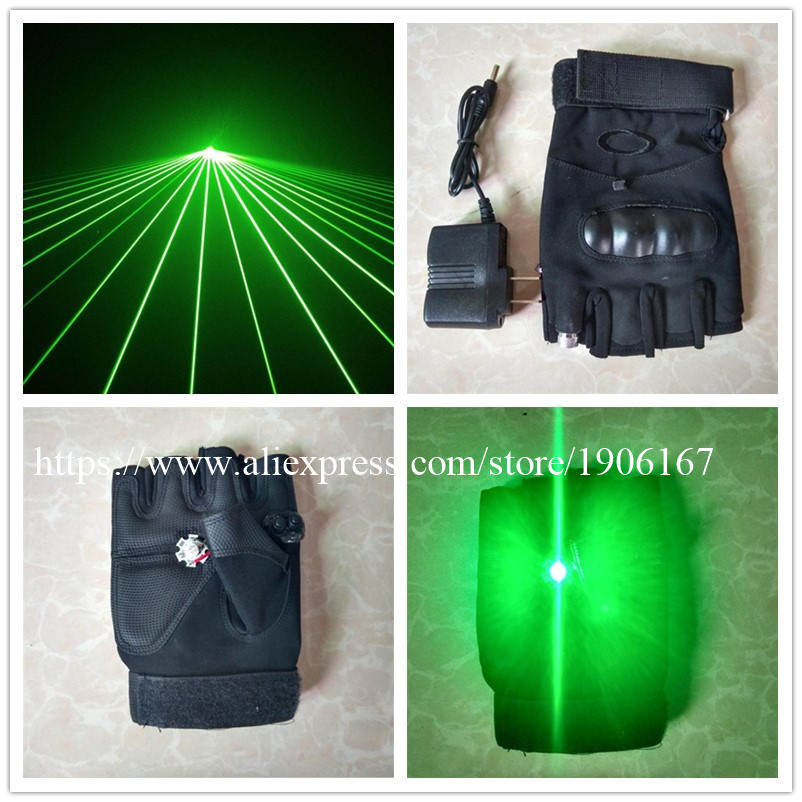 Hot sale Green Man Show Laser DJ Gloves With 1 pcs Green Laser + Palm Led Lights For Dancing Stage Show Light DJ Club Party