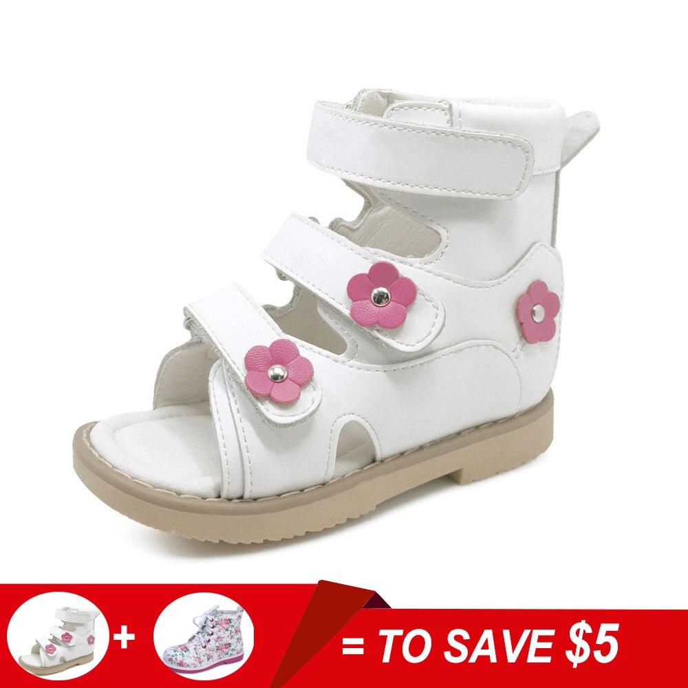 65132f2fad Flower Simple Lovely Children Girl White Genuine Leather Flat Foot ...