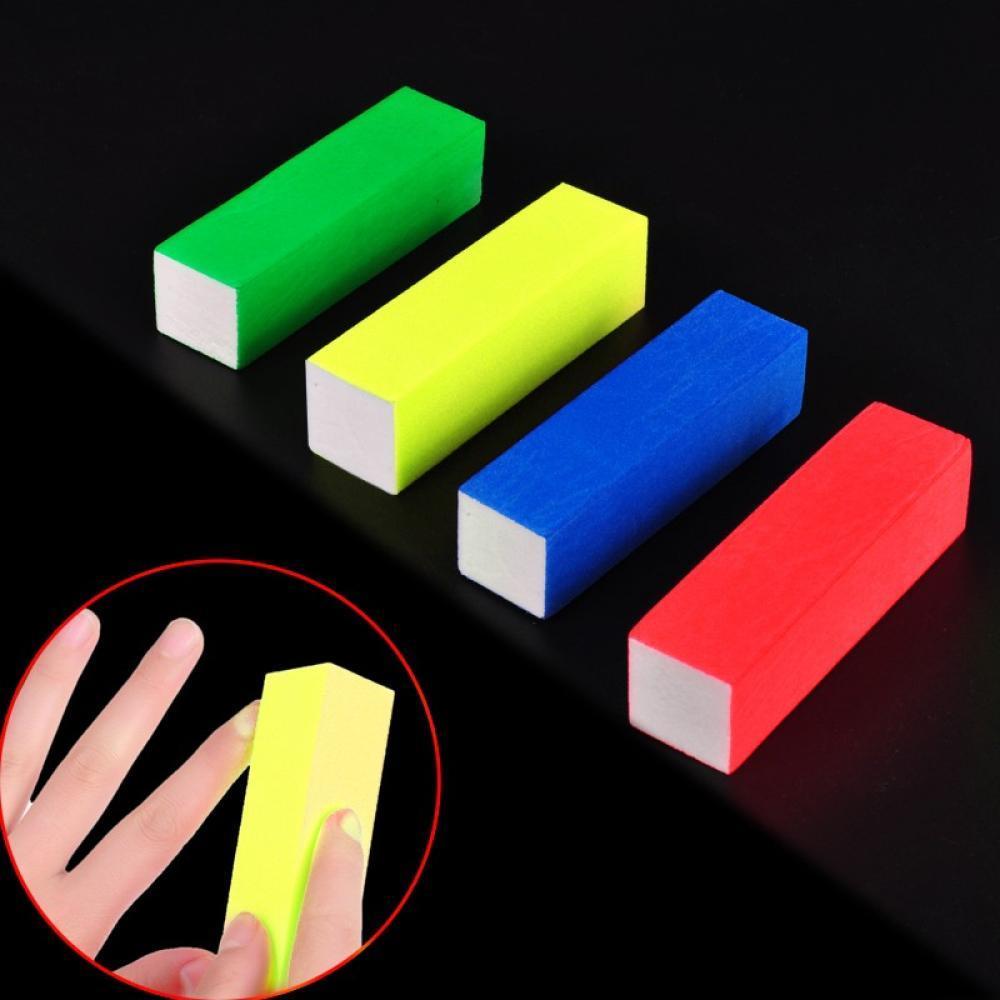 цена на High Qaulity Sanding Nail File Buffer Block For UV Gel Nail Polish Nail Art Tools Manicure Pedicure White Form Nail Buffers File