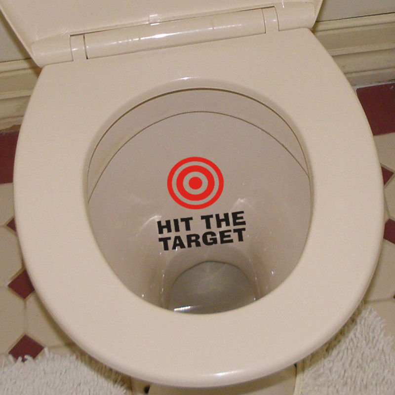 Creative Hit The Target Toilet sticker Bathroom Wall Seat Sticker Washroom Art Decal Tile Mural Removable DIY Wall Decals D869