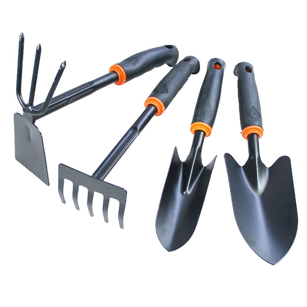 RDDSPON 4pcs Mini Shovel Rake Set Mini Garden Tool Bonsai Tools Set Wooden Handle Metal Head Shovel for Flowers Potted Plants