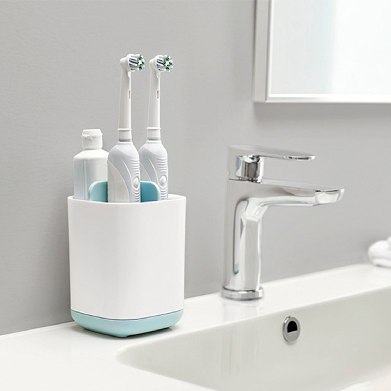 3-Slot Toothbrush Toothpaste Holder Stand Box Caddy Bathroom Accessories Organizer Electric Toothbrush Razor Stand Box Organizer