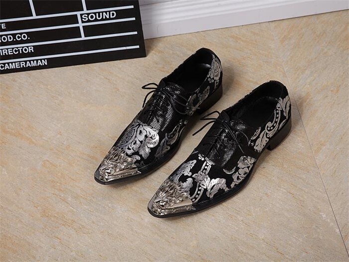 Spring and summer large size totem mens pointed toe casual shoes single shoes British business lace-up leather shoesSpring and summer large size totem mens pointed toe casual shoes single shoes British business lace-up leather shoes