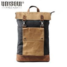 UNISOUL Reise rucksack tasche männer Rucksäcke Patchwork Leinwand Taschen Männer Adrette Rucksack Vintage Schule Rucksack